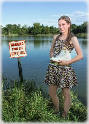 c11-Bobbie With Skates and Thin Ice Sign.jpg
