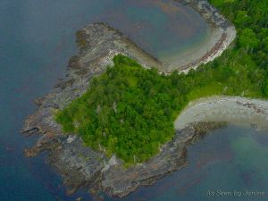 2a-Gwaii Haanas Queen Charlotte Islands Aerial View of Kayak Camping Beach.jpg