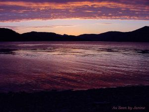 2b-Gwaii Haanas Queen Charlotte Islands Sunset from Kayak Camp on High Island.jpg