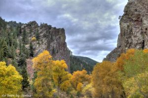 c25-3b-Canyon Formations Fall Foliage and Intense Clouds in Eldorado Canyon State Park.jpg