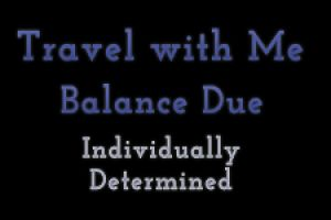 Travel With Me Session Balance Due