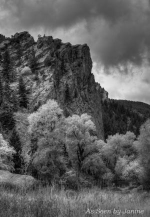 Eldorado Canyon Black and White Landscape with Intense Clouds