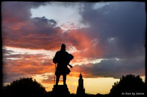 Civil War Memorial Soldiers Monument at Sunset, Colorado State Capital Denver