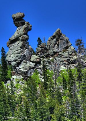 Defiance of Gravity Rock Formations in Golden Gate Canyon State Park Colorado