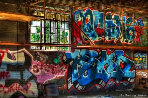 Color Amidst Chaos Graffiti Art in Abandoned Building in Atlanta