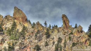 Rock Formations of Eldorado Canyon Peaks in Rocky Mountains