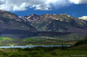 Dillon Reservoir and the Ten Mile Range, Colorado
