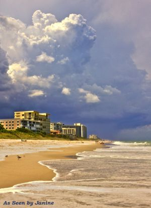 Indiatlantic Beach Florida with Surf & Cloudscape