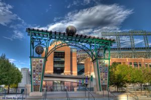 Evolution of the Ball Gateway to Coors Field Created by Artist Lonnie Hanzon
