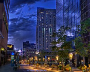 Denver 16th Street Mall at Twilight