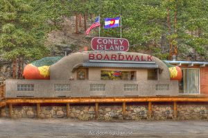 Coney Island Colorado - Historic Roadside Hot Dog Stand in Bailey