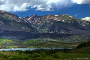 Dillon Reservoir and the Ten Mile Range of the Rockies