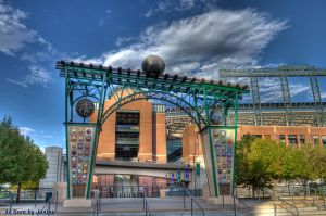 Evolution of the Ball - Gateway to Rockies Stadium at Coors Field - Created by Artist Lonnie Hanzon