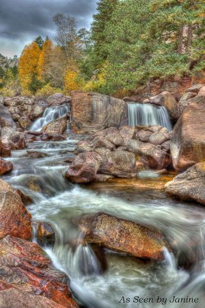 Gently They Fall - Waterfalls in Eldorado Canyon State Park - Full Frame Format