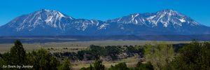 Spanish Peaks Viewed from La Veta