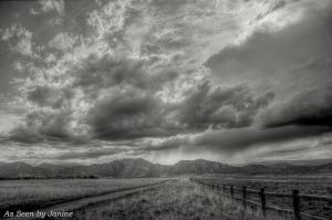 Spring Storm Clouds Colorado Style - Davidson Mesa Open Space - Louisville
