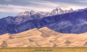 Great Sand Dunes National Park - Star Dune Framed by the Sangre de Cristo Mountains