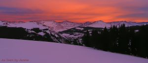 Sunset View from Jackal Hut Near Leadville - 10th Mountain Division Hut System