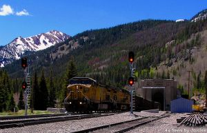 Train Coming through Moffat Tunnel Under the Continental Divide