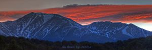c28-1o-Mount Princeton in Collegiate Peaks Wilderness Colorado at Sunset Panorama.jpg