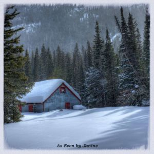 c79-1f-Rustic Colorado Fishing Cabin Along South Boulder Creek Snowed in for Winter.jpg