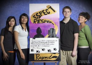 Student Artists Group Portrait with Respect Painting